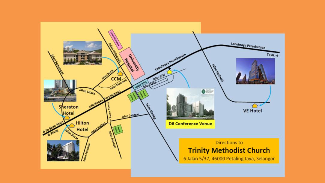 D6 2018 Venue & Hotel Map